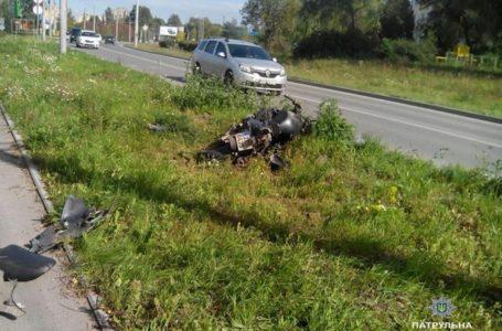 У Тернополі ледь не розбився мотоцикліст та пасажир: обоє в реанімації (Фото. ОНОВЛЕНО)