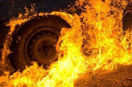 На Тернопільщині під час руху загорівся автомобіль