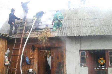 У пожежі на Зборівщині згоріли дві тони сіна
