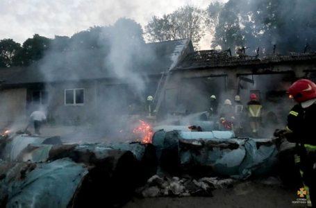 У масштабній пожежі на Збаражчині згорів склад із сировиною