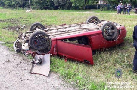 На Тернопільщині через перевищення швидкості перекинувся автомобіль