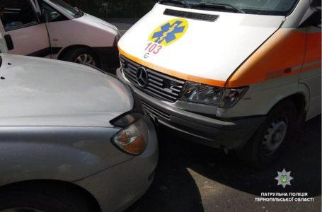 У Тернополі п'ять автівок зі швидкою потрапили в аварію (Фото)