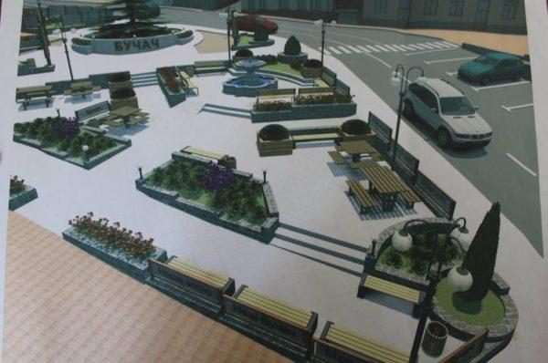 Замість стихійного ринку у Бучачі облаштують сучасний сквер