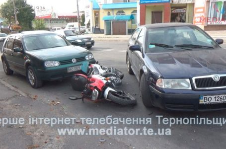ДТП на «Східному»: мотоцикліст врізався в легківку (Відео)