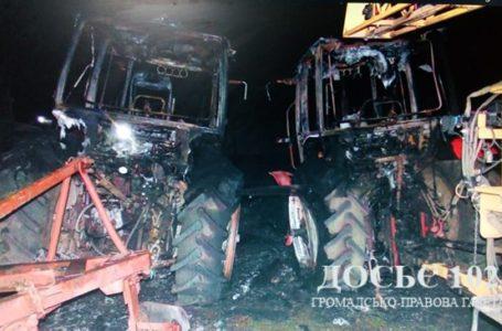 На Тернопільщині невідомі спалили техніку місцевого фермера, вартістю 60 тисяч доларів