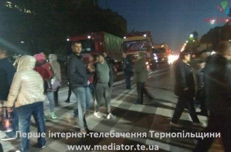 Через акції протесту у Тернополі водій наїхав на патрульного