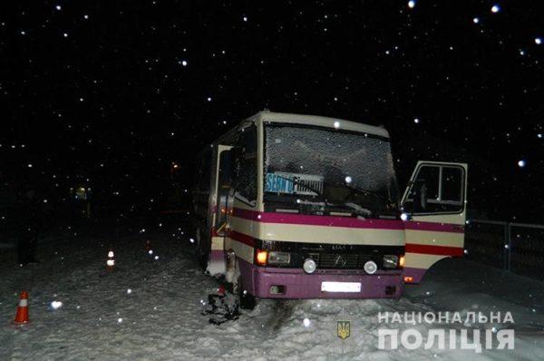 На Чортківщині рейсовий автобус наїхав на перехожого