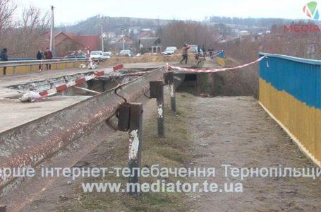 Міст, який обвалився на Тернопільщині, відновлять до літа (Відео)