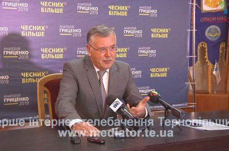 Щорічно через корупцію до держбюджету не надходить 400 мільярдів гривень, – Анатолій Гриценко (Відео)