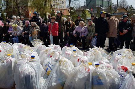 Потребуючі жителі краю отримали «Великодні кошики»