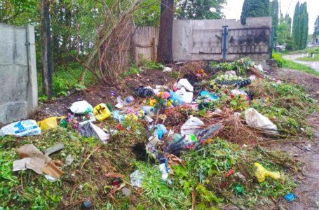 З могил – на узбіччя: у Кременці прибирання на кладовищі спричинило сміттєвий колапс (Фото)