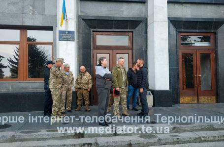 Ветерани Добровольчого Українського Корпусу протестують під ОДА (Наживо)