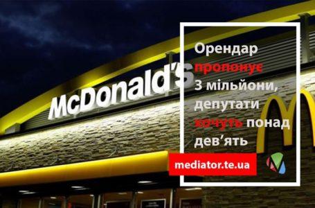 Ділянку під Mcdonalds хочуть викупити за 3 млн. грн.