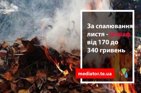 За тернополянами, які спалюють листя, стежитиме квадрокоптер