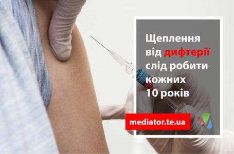 Тернополяни можуть безкоштовно вакцинуватися від дифтерії