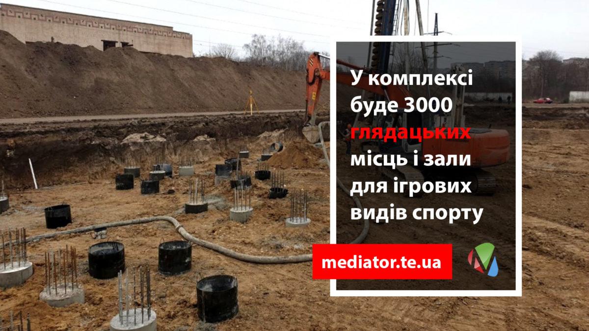 Замість стадіону «Текстерно» в Тернополі будують «Палац Спорту» за 300 мільйонів (Фото)