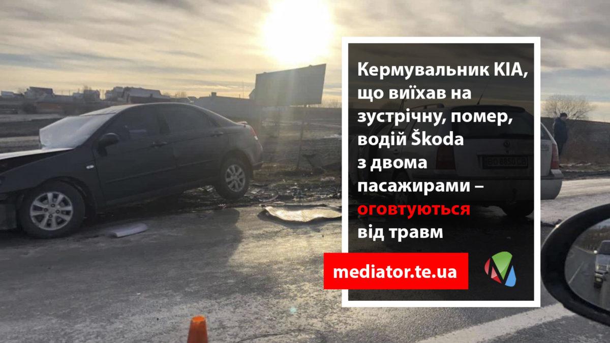 Аварія біля Почапинців: водій помер, у ще одного учасника ДТП – важкий перелом(Фото)