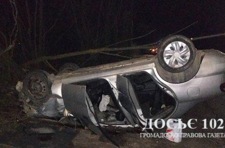У ДТП на Зборівщині автомобіль перекинувся та злетів у кювет (Фото)