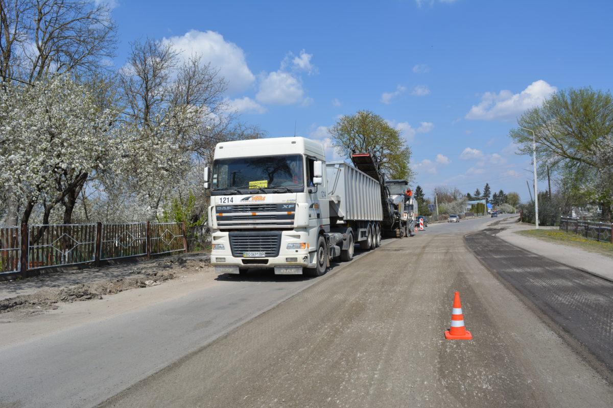 На Тернопільщині вперше за двадцять років ремонтують дорогу (Фото)