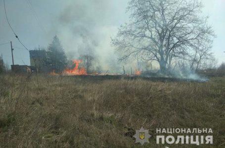 У Підгаєцькому районі поліцейські спіймали палія сухої трави (Відео)