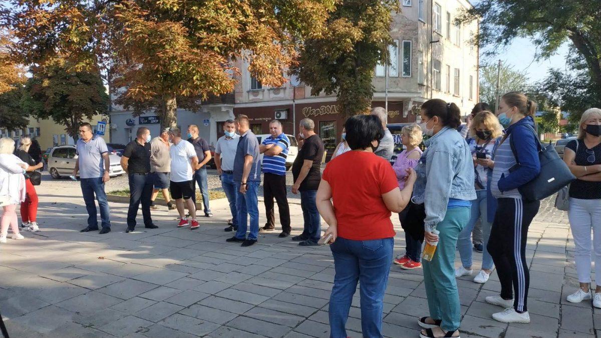 У Теребовлі протестують підприємці (Наживо)