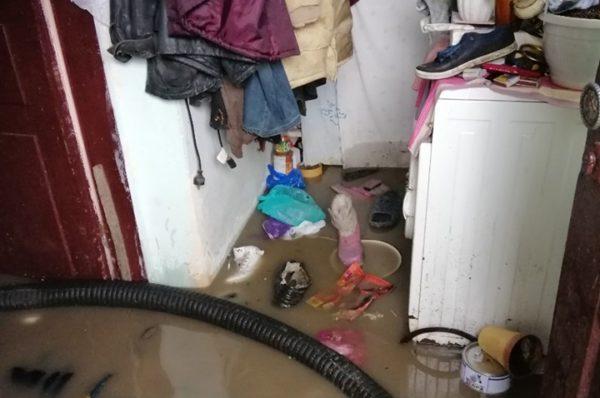 Через негоду на Тернопільщині з затоплених подвір'їв викачують воду (Фото)