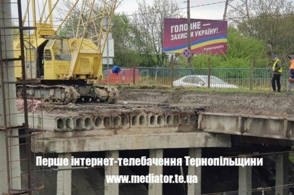 Ремонт Гаївського мосту у Тернополі. Рух транспорту обмежений  (Фото)