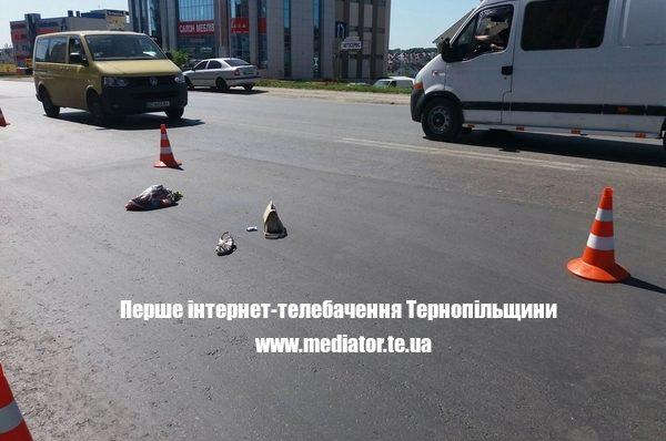 У Тернополі на Будного водій збив жінку на пішохідному переході