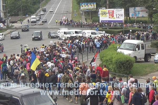 На Зустріч з Богородицею. Тисяча прочан з Тернополя вирушили до Зарваниці (Відео)
