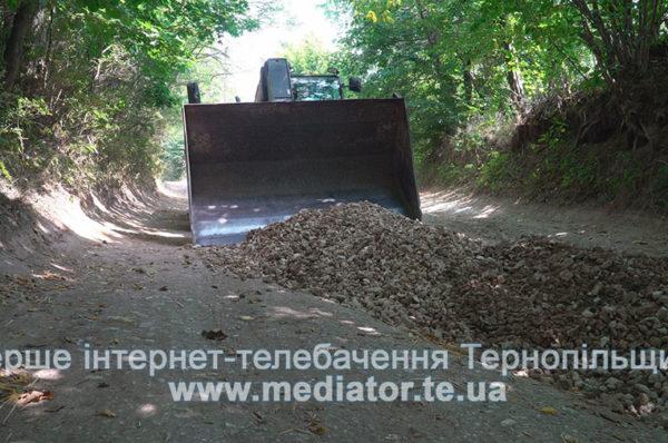 На Тернопільщині за кошти аграріїв ремонтують дорогу в селі (Відео)