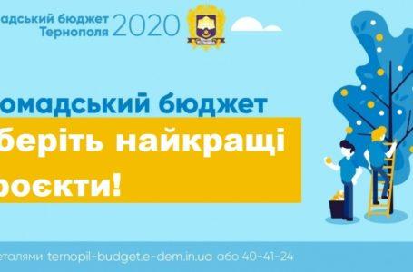 Сьогодні в Тернополі останній день голосування за проєкти «Громадського бюджету»